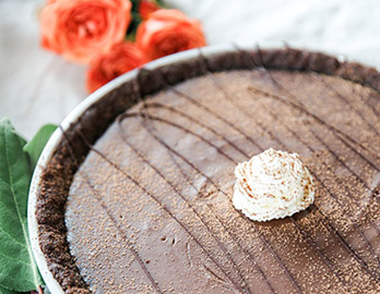 Chocolate Almond Pudding Pie made with Almond Flour Baking Mix Chocolate Muffin & Cake Recipe
