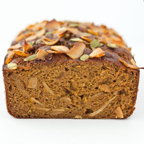 Coconut Caramel Pumpkin Bread made with Almond Flour Baking Mix Pumpkin Muffin & Bread Recipe