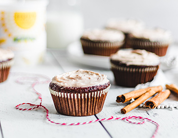 Pumpkin Gingerbread Cupcakes with Maple Cinnamon Frosting made with Almond Flour Baking Mix Pumpkin Muffin & Bread Recipe