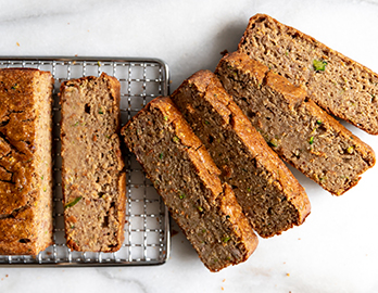 Zucchini Banana Bread made with Almond Flour Baking Mix Banana Muffin & Bread Recipe
