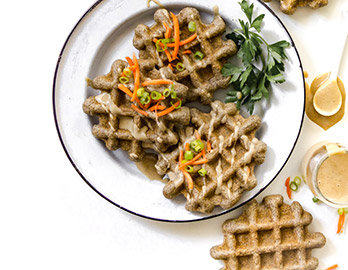 Savory Chaga Waffles made with Almond Flour Baking Mix Artisan Bread Recipe