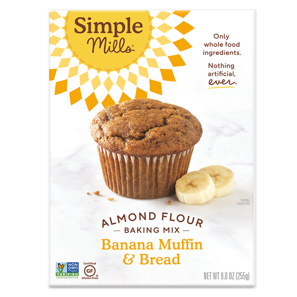 Simple Mills Almond Flour Baking Mix Banana Muffin & Bread