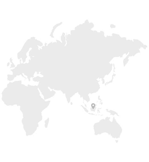 Map of South East Asia where Coconut Flour is produced