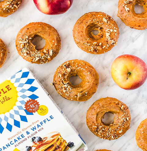 Apple Cider Donuts with Maca Glaze made with Almond Flour Baking Mix Pancake & Waffle Recipe