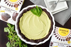 Paleo Chocolate Mint Cream Pie made with Almond Flour Baking Mix Chocolate Muffin & Cake