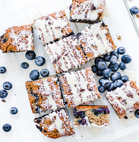 Blueberry Banana Breakfast Bars made with Almond Flour Baking Mix Banana Muffin & Bread Recipe