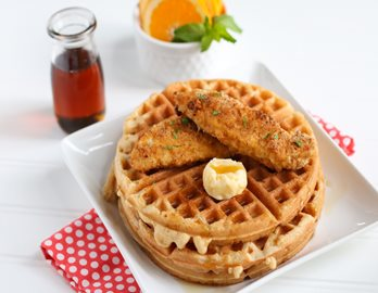 Chicken 'n' Waffles made with Almond flour Baking Mix Pancake & Waffle Recipe