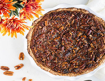 Holiday Pecan Pie  made with Almond Flour Baking Mix Pancake & Waffle Recipe