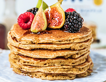 Maple Superfood Pancakes made with Almond Flour Baking Mix Pancake & Waffle Recipe