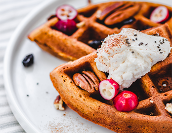 Pumpkin Spice Waffles made with Almond Flour Baking Mix Pumpkin Muffin and Bread Recipe