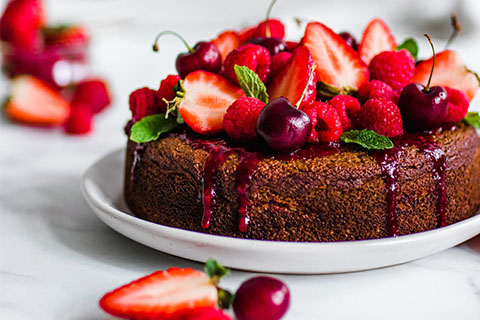 Red Berry Banana Bread made with Almond Flour Baking Mix Banana Muffin & Bread Recipe