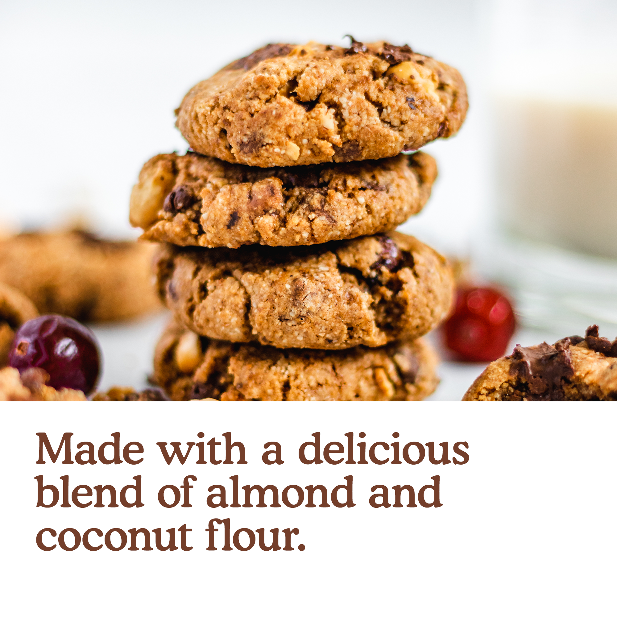 Made with a delicious blend of almond and coconut flour