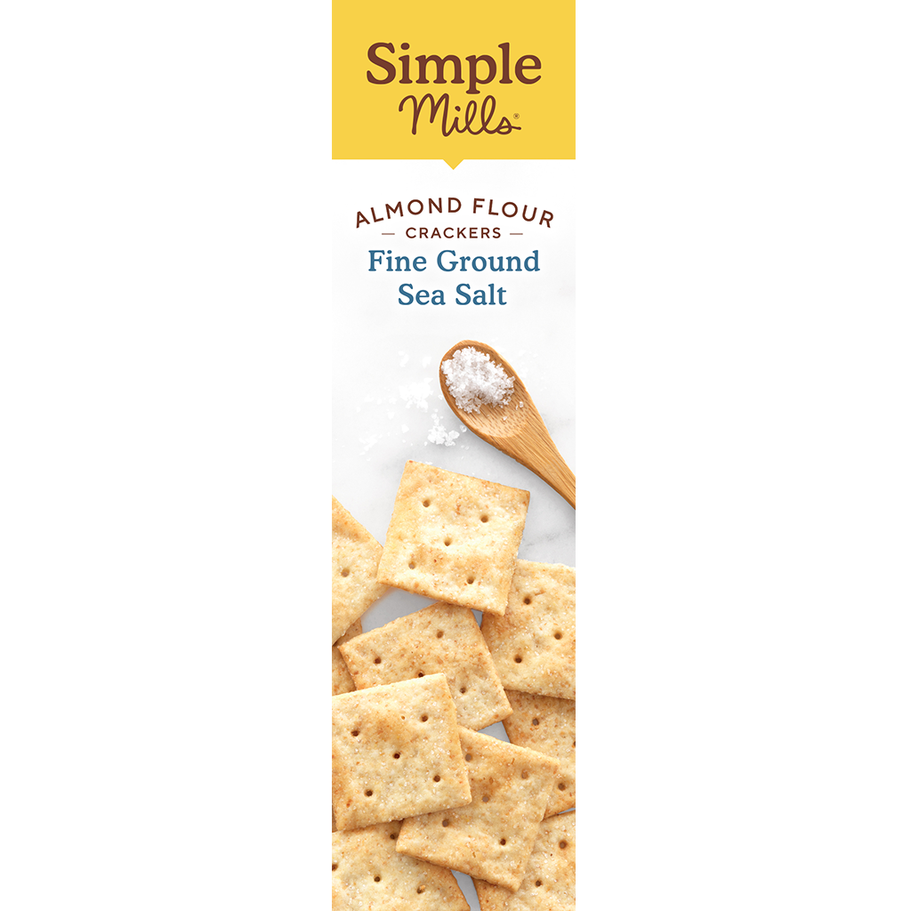 Almond Flour Crackers Fine Ground Sea Salt Box side panel