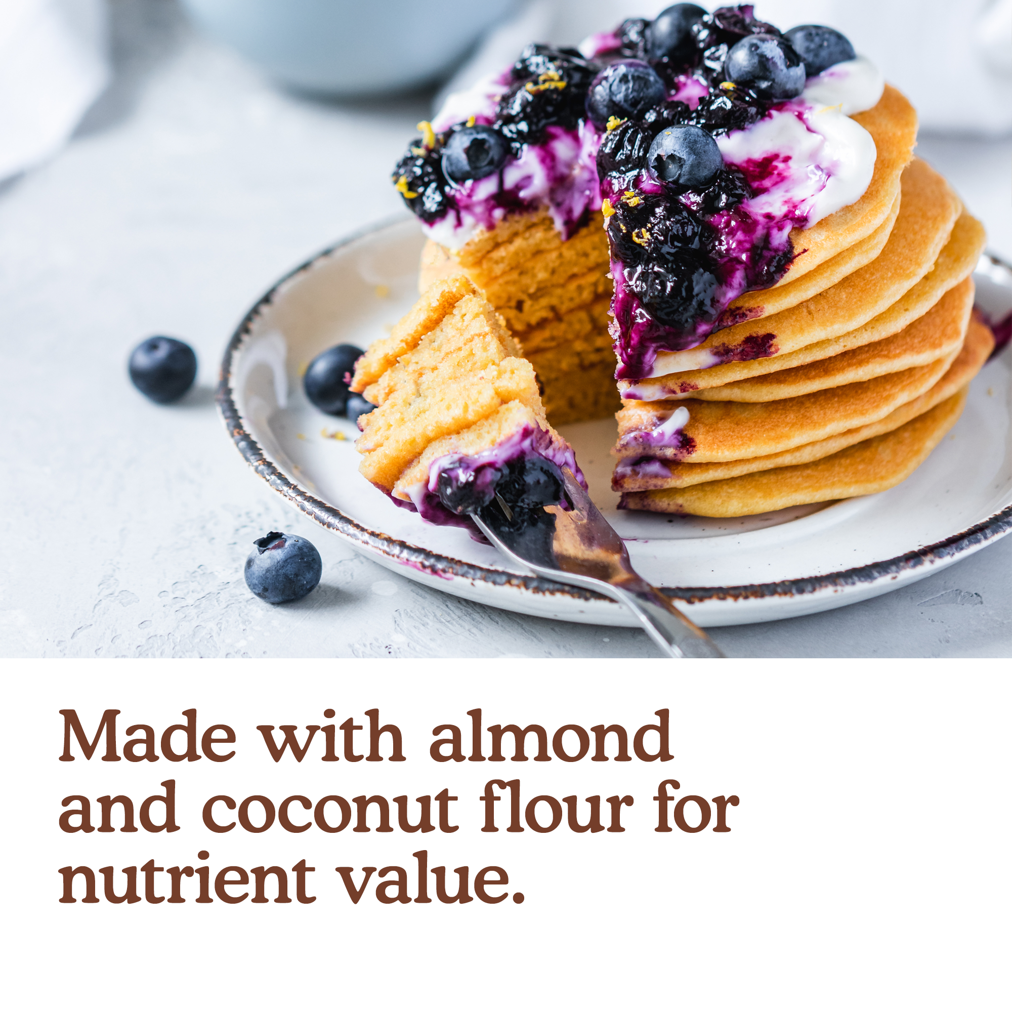 Made with almond and coconut flour for nutrient value.