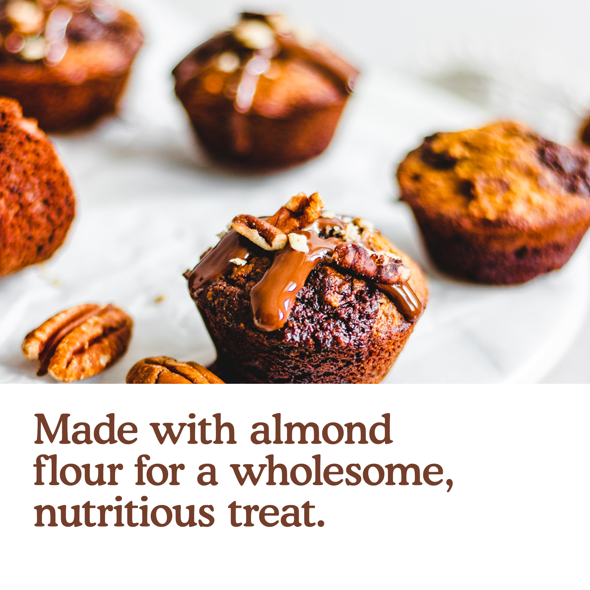 Made with almond flour for a wholesome nutritious treat.