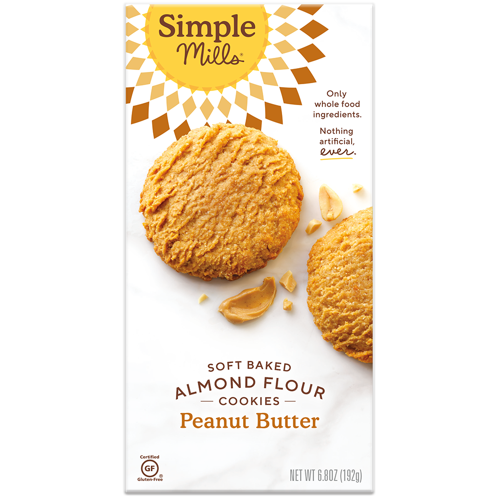 Simple Mills Soft Baked Almond Flour Cookies Peanut Butter