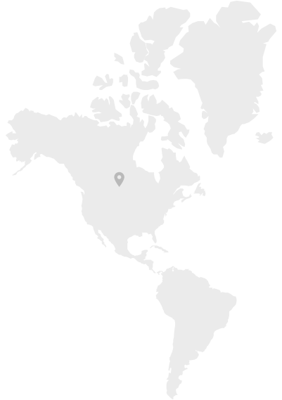 Map of North America where Sunflower Seeds are produced