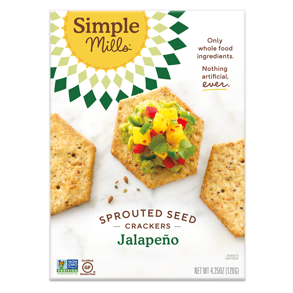 Sprouted Seed Crackers Jalapeño